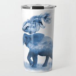 Blue Smoky Clouded Elephant Travel Mug