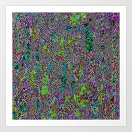 Purple Chaos 2 Art Print