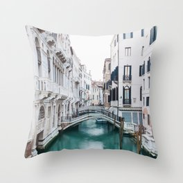 The Floating City - Venice Italy Architecture Photography Throw Pillow