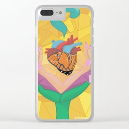 My Immigrant Heart Clear iPhone Case