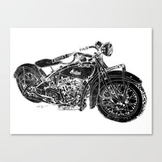 Vintage Indian Motorcycle Canvas Print