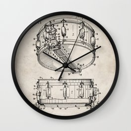 Snare Patent - Musician Art - Antique Wall Clock
