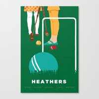 heathers Canvas Prints featuring 80s TEEN MOVIES :: HEATHERS by David Edward Johnson