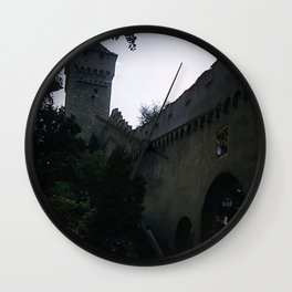 Vintage Color Photo * Old Roman Wall * Lucerne * Switzerland * Kodachrome * 1950's *1940's Wall Clock