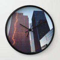 houston Wall Clocks featuring Houston by Jorieanne