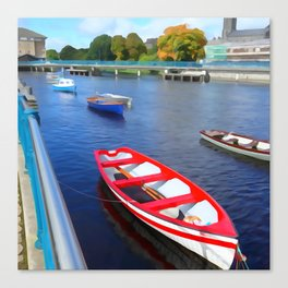 Boats on the River Canvas Print