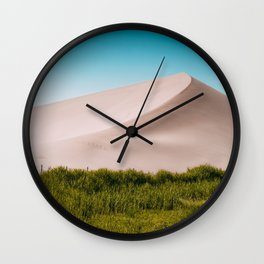 Dune green blue Wall Clock