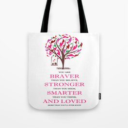 Winnie the Pooh Book Quote Tote Bag