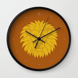 Leo Zodiac / Lion Star Sign Poster Wall Clock