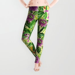 Passiflora vines Leggings