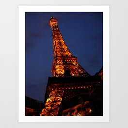 Las Vegas - Paris Art Print