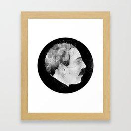 Mugshot Vampire Framed Art Print