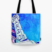 fargo Tote Bags featuring Fargo Pillow by Spilling Beans