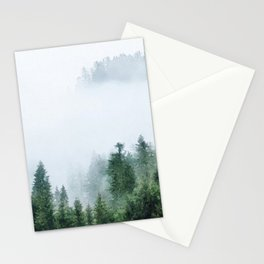 Foggy forest watercolor painting #6 Stationery Cards