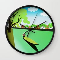 vietnam Wall Clocks featuring Vietnam views by Design4u Studio