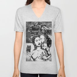 Random Collisions Of Pasts Through Paths Of Desire Unisex V-Neck