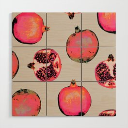 Pomegranate Pattern Wood Wall Art