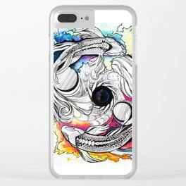 Pisces Dream Pool Clear iPhone Case