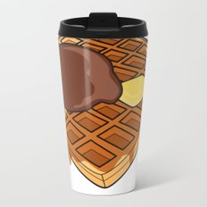 Waffle Time is Anytime. Metal Travel Mug