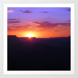Colorful Grand Canyon Sunset Art Print