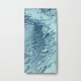 Aqua Shoreline Metal Print