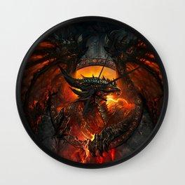 Dragon Legend Art Fire Digital Fantasy Wall Clock