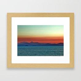 Sunset on Lake Taupo Framed Art Print