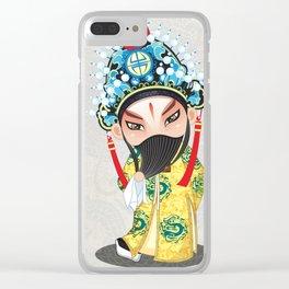 Beijing Opera Character LiuBei Clear iPhone Case