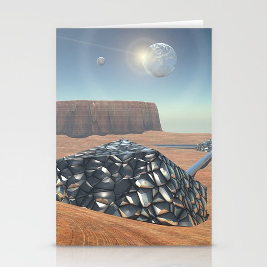 Mars Babylon Colony, view of Armageddon  Stationery Cards