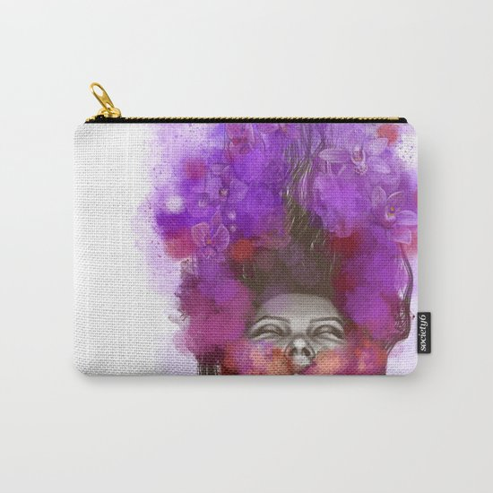 Free thoughts colorful painting Carry-All Pouch