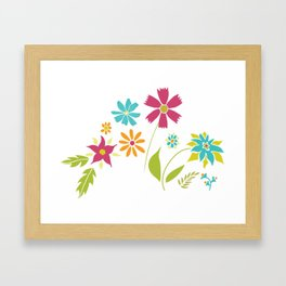 Cheery Spring Floral Framed Art Print