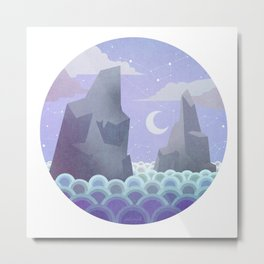 Moongazing: Sea Metal Print