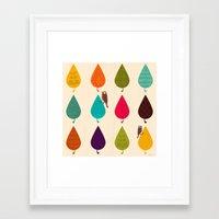 leaves Framed Art Prints featuring Leaves by Kakel
