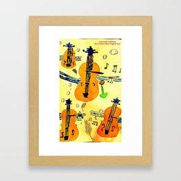 Surreal Violines Framed Art Print