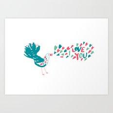 Birdy Song Art Print