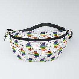 Rainbow umbrella Fanny Pack
