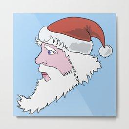 Head of Santa Claus Metal Print