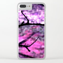 Pink Lavender Nature Abstract Clear iPhone Case
