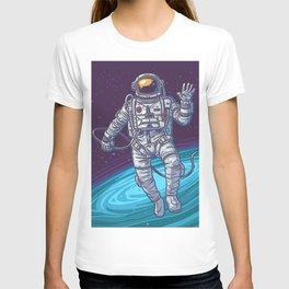Vector illustration cosmonaut T-shirt