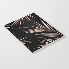 Rose Gold Palm Leaves 2 Notebook