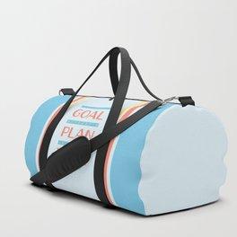 Plan Your Goals - Antoine de Saint Exupery Quote Duffle Bag