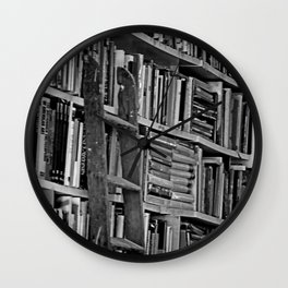 Book Shelves Wall Clock