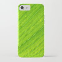 banana leaf iPhone & iPod Cases featuring banana leaf by blackpool