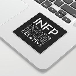 INFP (black version) Sticker