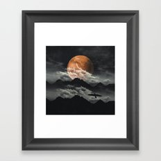 Spaces III - Mars above mountains Framed Art Print