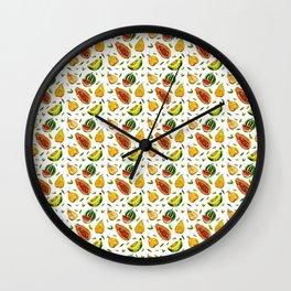 Melon craze Wall Clock