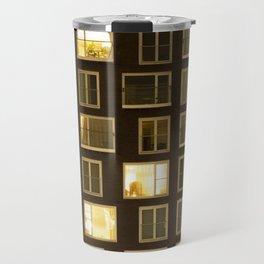 Modern apartment at night Travel Mug