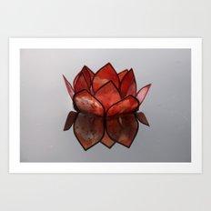 Glass Blossom on Water Art Print