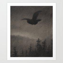Autumn Evening Theodor Kittelsen Art Print