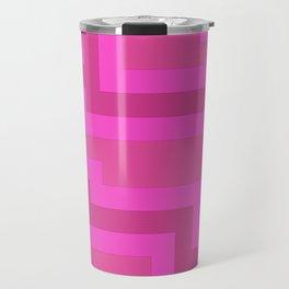 Think Pink Abstract Travel Mug